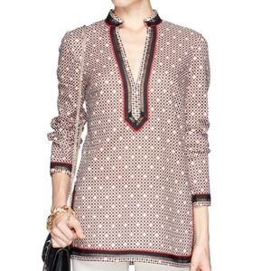 Tory Burch Desert Sands Patterned Voile Tunic